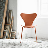 Fritz Hansen 'Series 7 Chair' by Arne Jacobsen - Monochrome Orange Room Setting