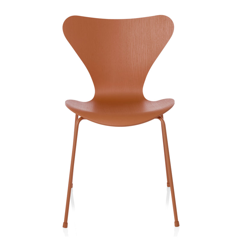 Fritz Hansen 'Series 7 Chair' by Arne Jacobsen - Monochrome Orange