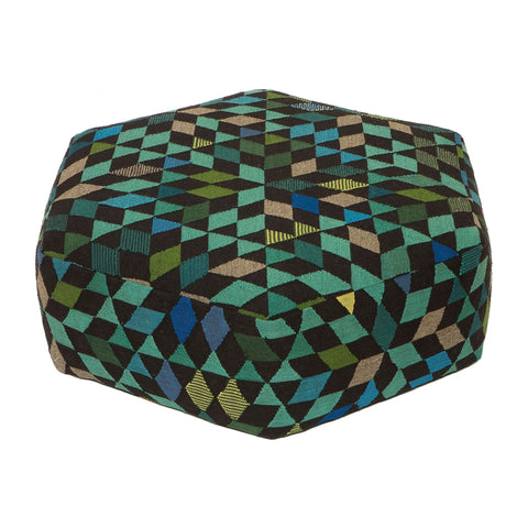 Golran 1898 Diamond Apple Green Low Pouf
