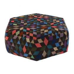 Golran 1898 Diamond Black Low Pouf by Bertjan Pot