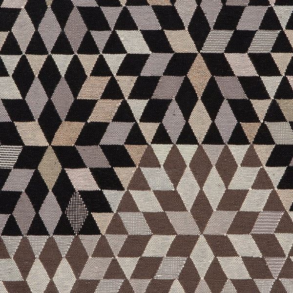 Golran 1898 Diamond Medallion Black & Cream Rug Detail