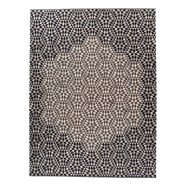 Golran 1898 Diamond Medallion Black & Cream Rug