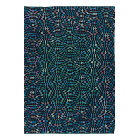 Golran 1898 Diamond Medallion Blue/Green Rug by Bertjan Pot