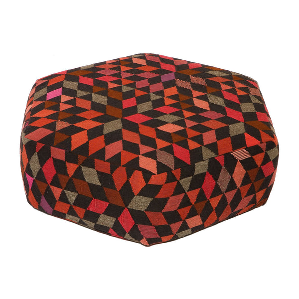 Golran 1898 Diamond Strawberry Low Pouf by Bertjan Pot
