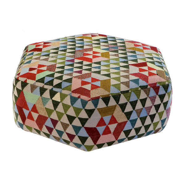 Golran 1898 Trianglehex Sweet Green Low Pouf by Bertjan Pot
