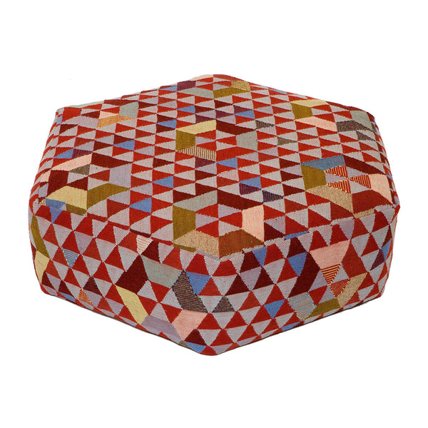 Golran Trianglehex Sweet Pink Low Pouf by Bertjan Pot