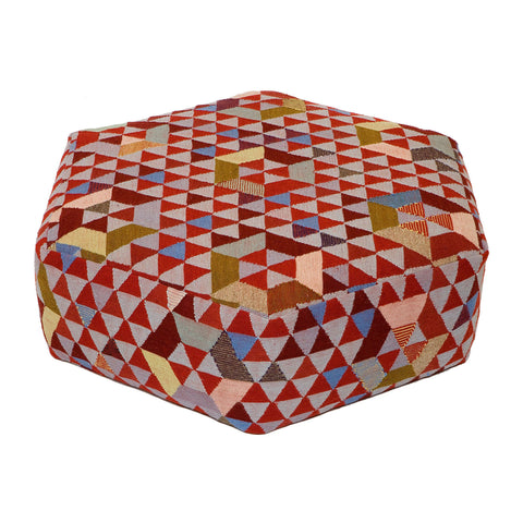 Golran 1898 Trianglehex Sweet Pink Low Pouf