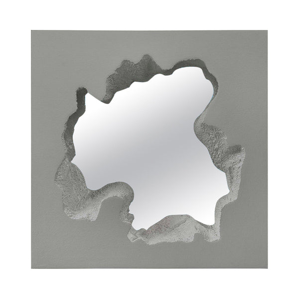 Gufram 'Broken' Mirror Square by Snarkitecture - Grey