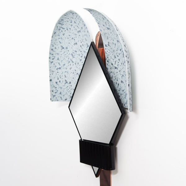 Houtique 'Bonnet' Mirror by Elena Salmistraro - Blue Detail