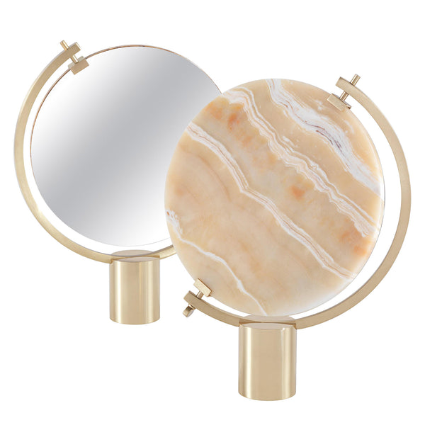JCP Universe 'Naia' Table Mirror by CTRLZAK Honey Onyx