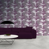 Kit Miles 'Black Lodge' Wallpaper Purple Roomset
