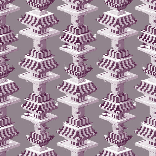 Kit Miles 'Black Lodge' Wallpaper Purple