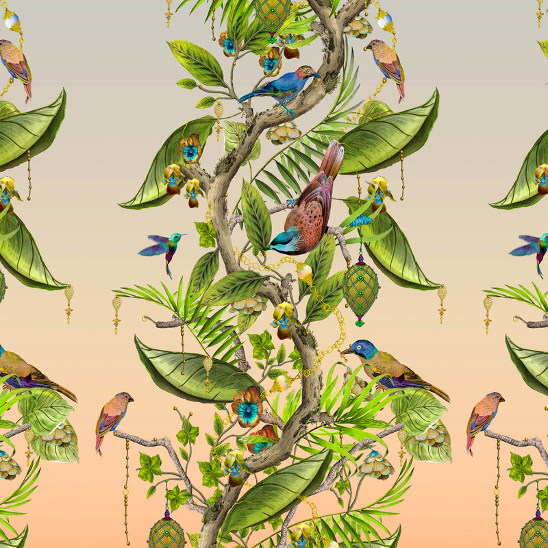 Kit Miles 'Ecclesiastical Botanica' Wallpaper Gold / Lime