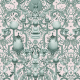Kit Miles 'Europa' Wallpaper Moss / Pink