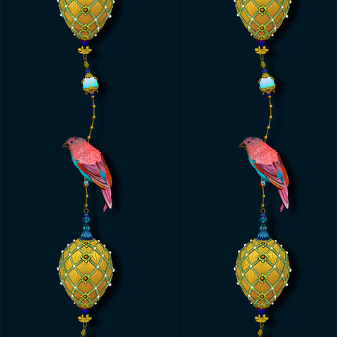Kit Miles Pendants & Ornamental Birds Wallpaper