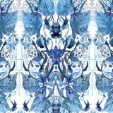 Kit Miles 'Ultraviolet Garden' Wallpaper Atomic Blue