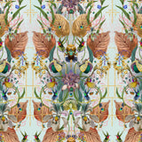 Kit Miles 'Ultraviolet Garden' Wallpaper Blue / Gold