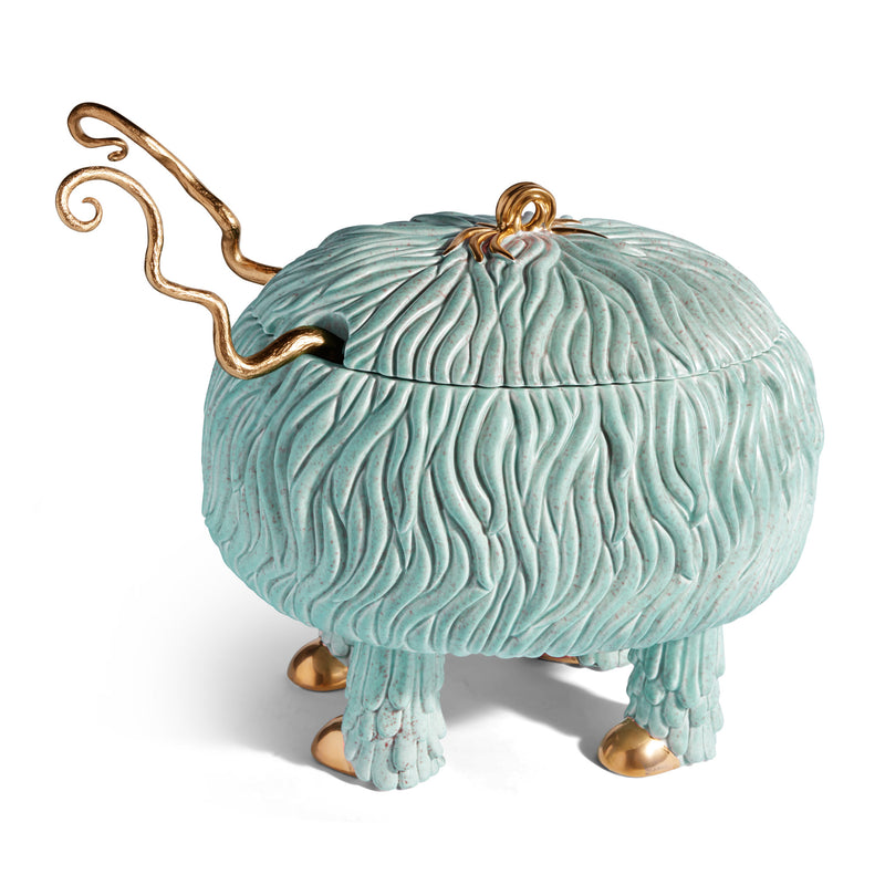 L'Objet x Haas Brothers Fox Salad Monster Serving Bowl - Blue/Green Side