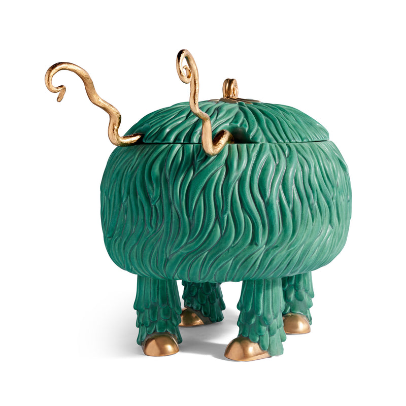 L'Objet x Haas Brothers Fox Salad Monster Serving Bowl - Green Front