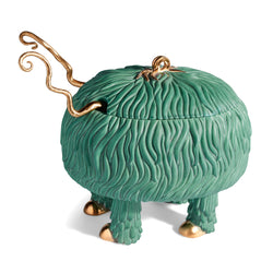 L'Objet x Haas Brothers Fox Salad Monster Serving Bowl - Green Side