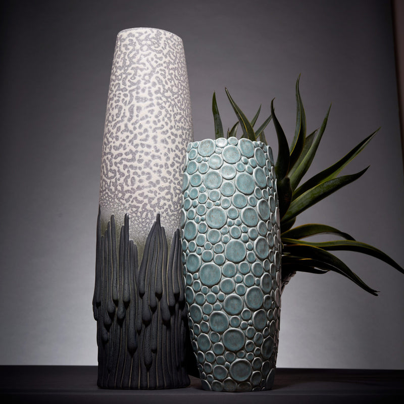 L'Objet x Haas Brothers Gila Monster Vase - Blue/Green Mood