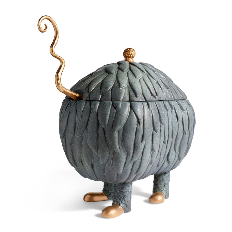 L'Objet x Haas Brothers Lukas Soup Monster Tureen - Grey Angle