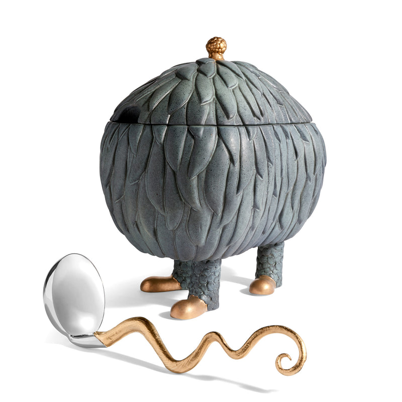 L'Objet x Haas Brothers Lukas Soup Monster Tureen - Grey Ladle