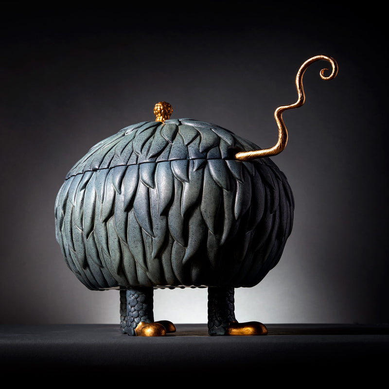 L'Objet x Haas Brothers Lukas Soup Monster Tureen - Grey Mood Side