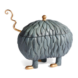 L'Objet x Haas Brothers Lukas Soup Monster Tureen - Grey Side