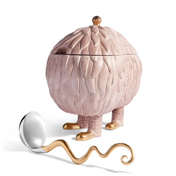 L'Objet x Haas Brothers Lukas Soup Monster Tureen - Pink Ladle