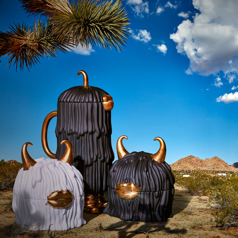 L'Objet x Haas Brothers Lynda Box & Plates - Black Group Desert