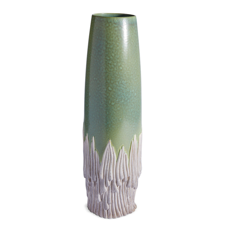 L'Objet x Haas Brothers Mojave Vase - Green Front