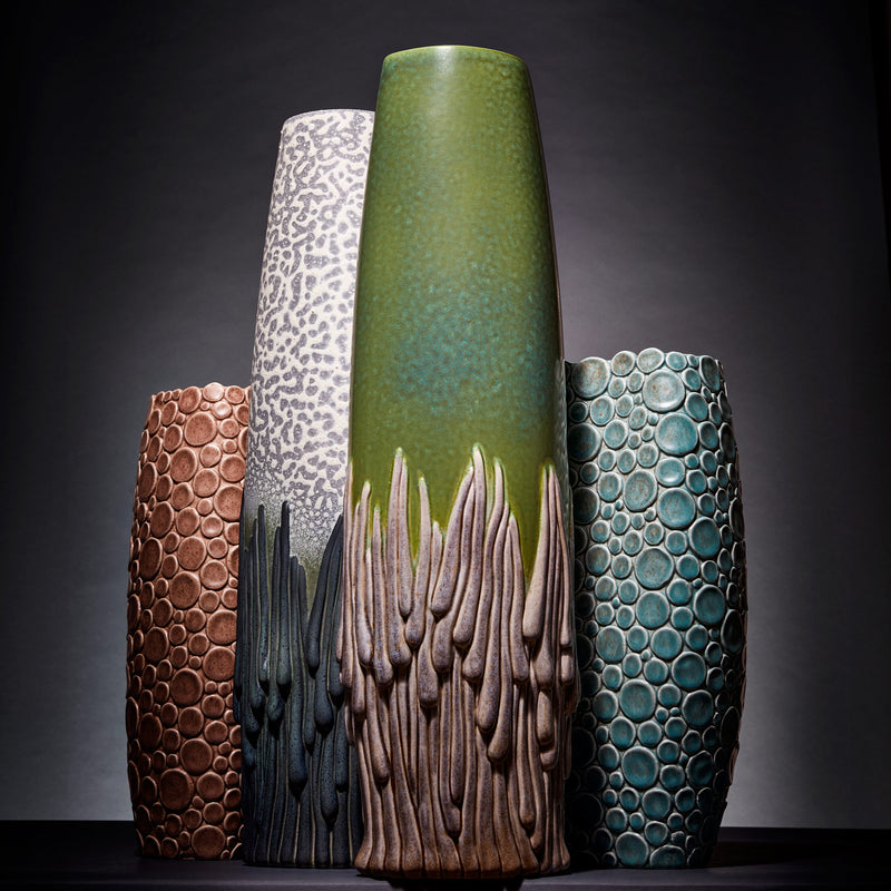 L'Objet x Haas Brothers Mojave Vase - Green Front Mood Group