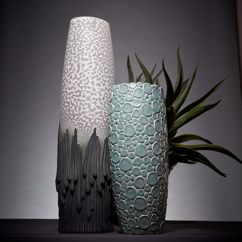 L'Objet x Haas Brothers Mojave Vase - Grey Side Mood