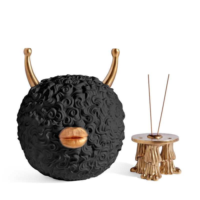 L'Objet x Haas Brothers 'Monster' Incense Burner - Black Base