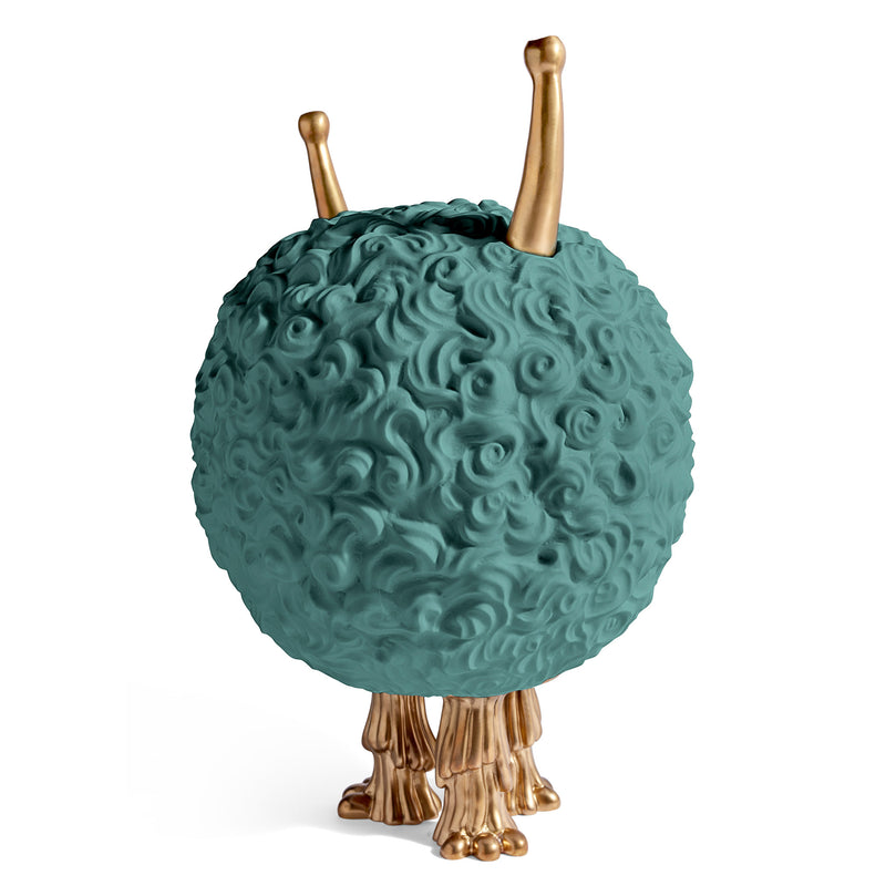 L'Objet x Haas Brothers 'Monster' Incense Burner - Celadon Back