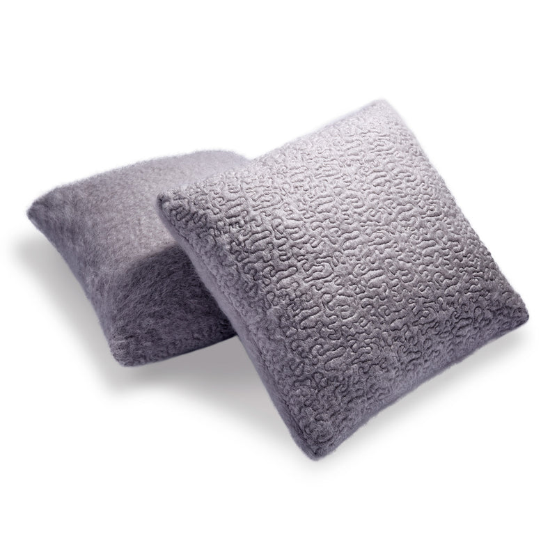 L'Objet x Haas Brothers Vermiculation Pillow - Grey Pair