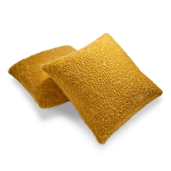 L'Objet Haas Brothers Vermiculation Pillow - Saffron Pair