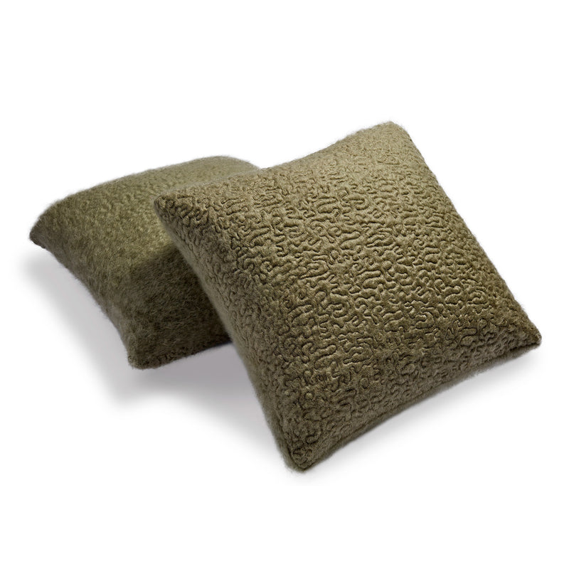 L'Objet x Haas Brothers Vermiculation Pillow - Sage Pair