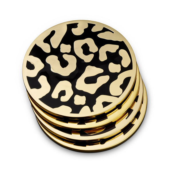 L'Objet 'Leopard' Coasters (Set of 4)