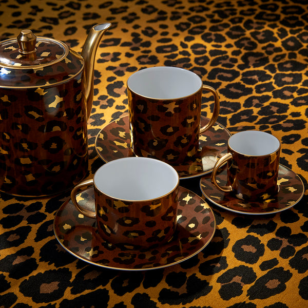 L'Objet 'Leopard' Mugs (Set of 2) Scene