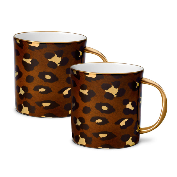 L'Objet 'Leopard' Mugs (Set of 2)