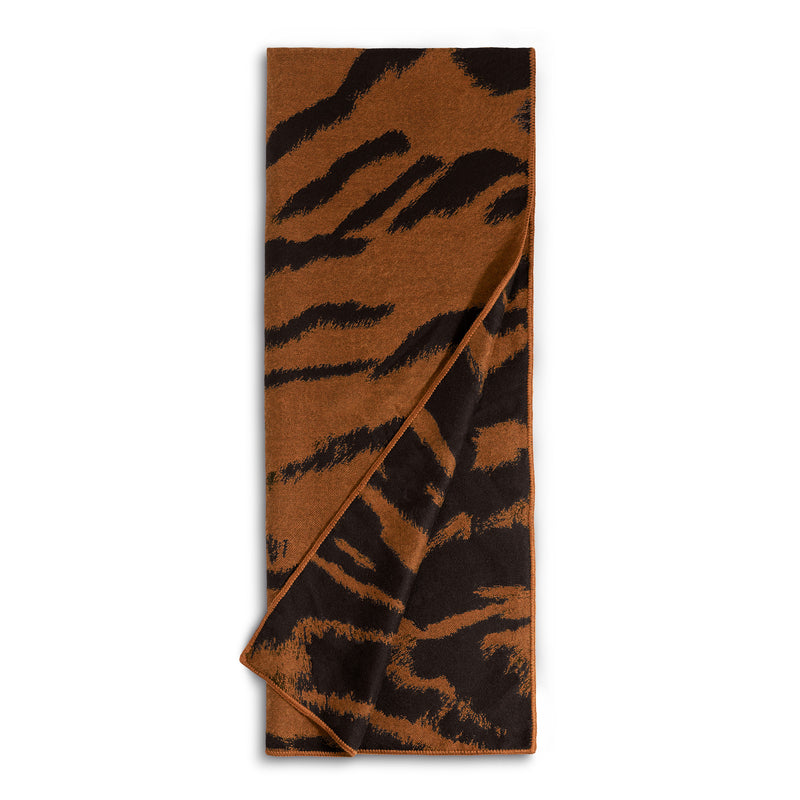 L'Objet 'Tiger' Jacquard Throw - Natural Detail