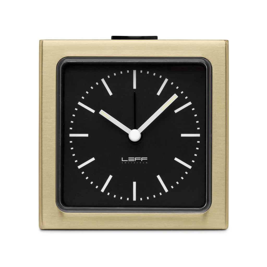 Block Alarm Clock Brass