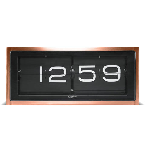 LEFF amsterdam Brick Clock - Copper