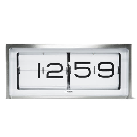 LEFF amsterdam Brick Clock - Steel/White