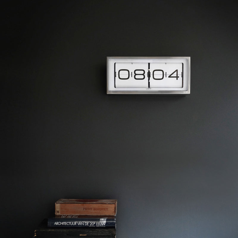 Brick Clock - Steel/White