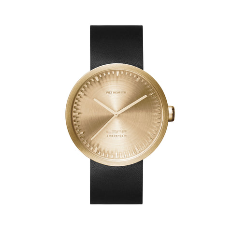 LEFF amsterdam Tube Watch - D42 Brass/Black