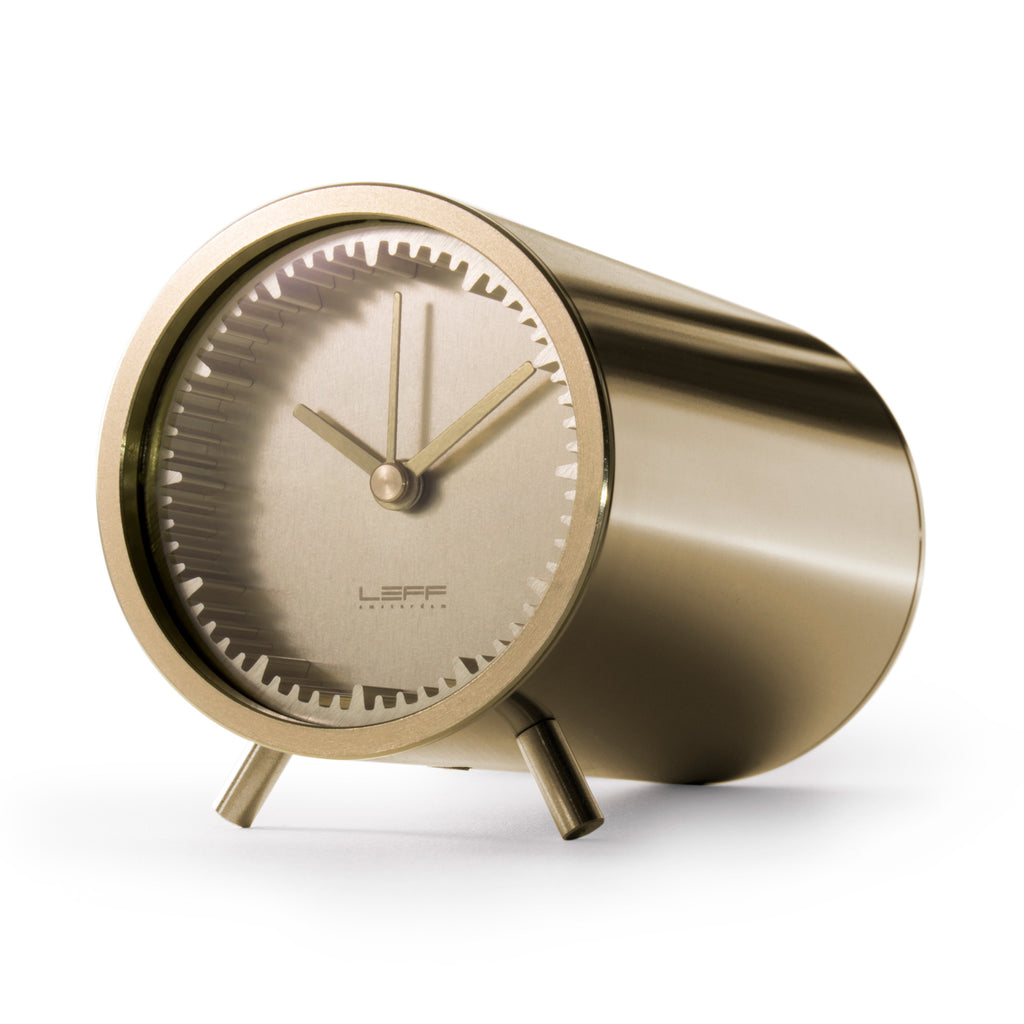 Tube Clock Brass Front