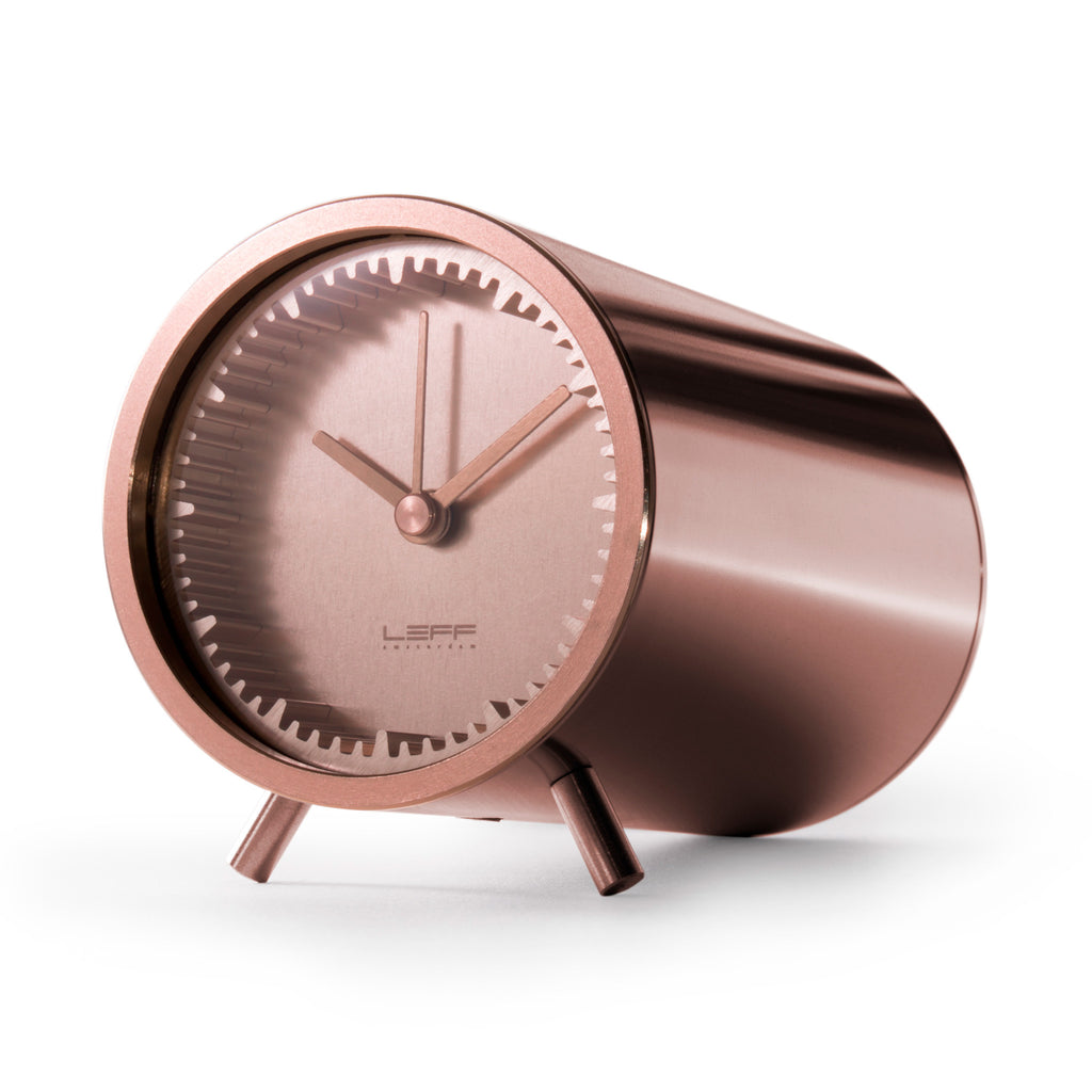 Tube Clock Copper Front